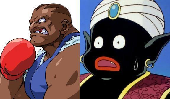 Street Fighter and DBZ Black Characters